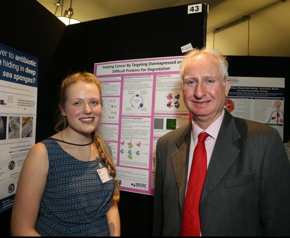 Sian and Daniel at STEM For Britain