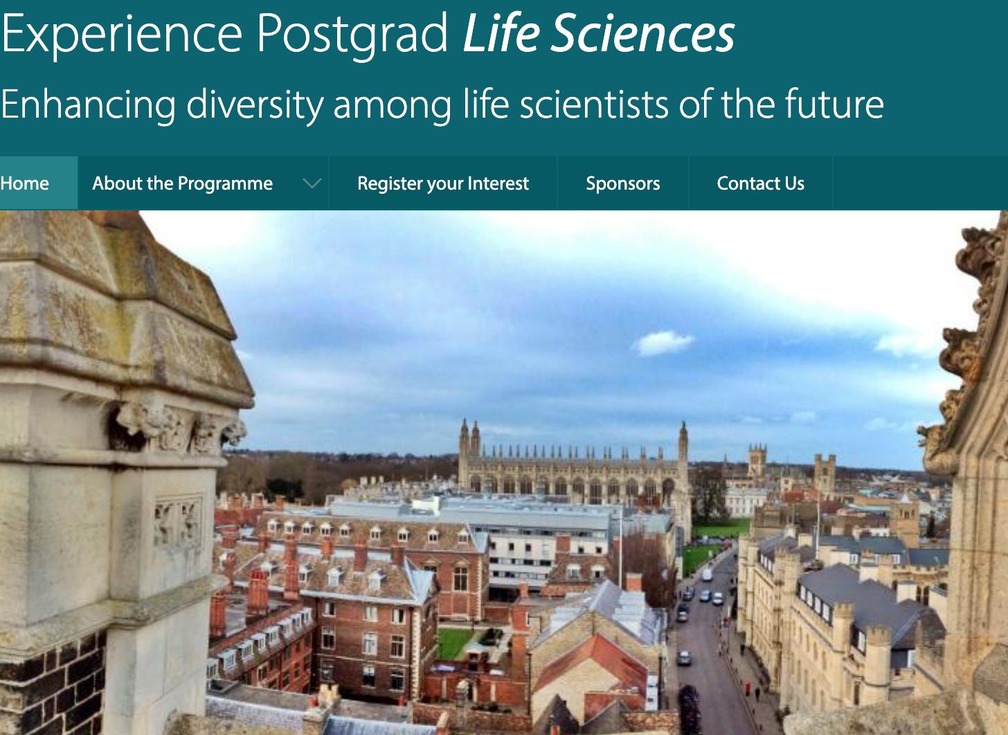 Experience Postgrad Life Sciences